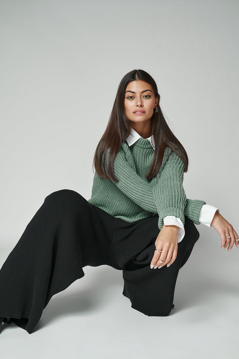 Chunky Round Neck Jumper