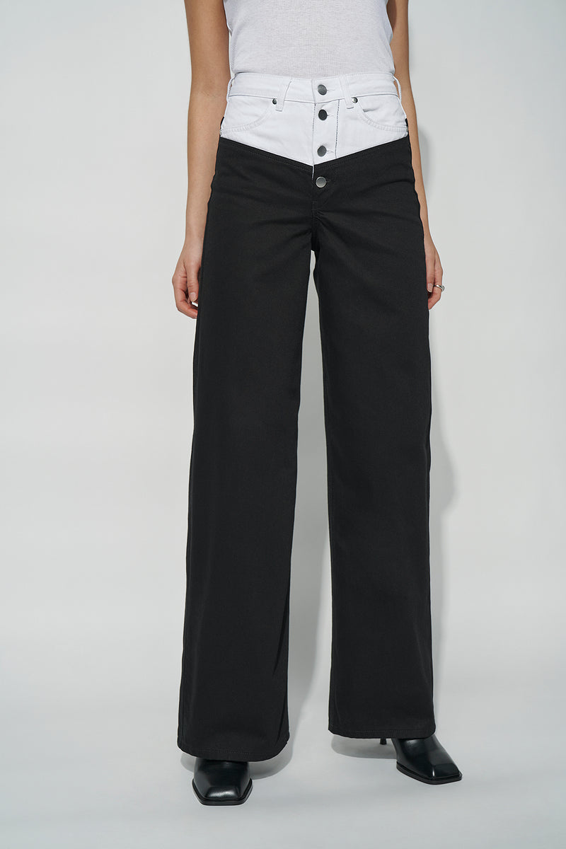 100% Organic Sculpted Extra Long Wide Leg Jeans