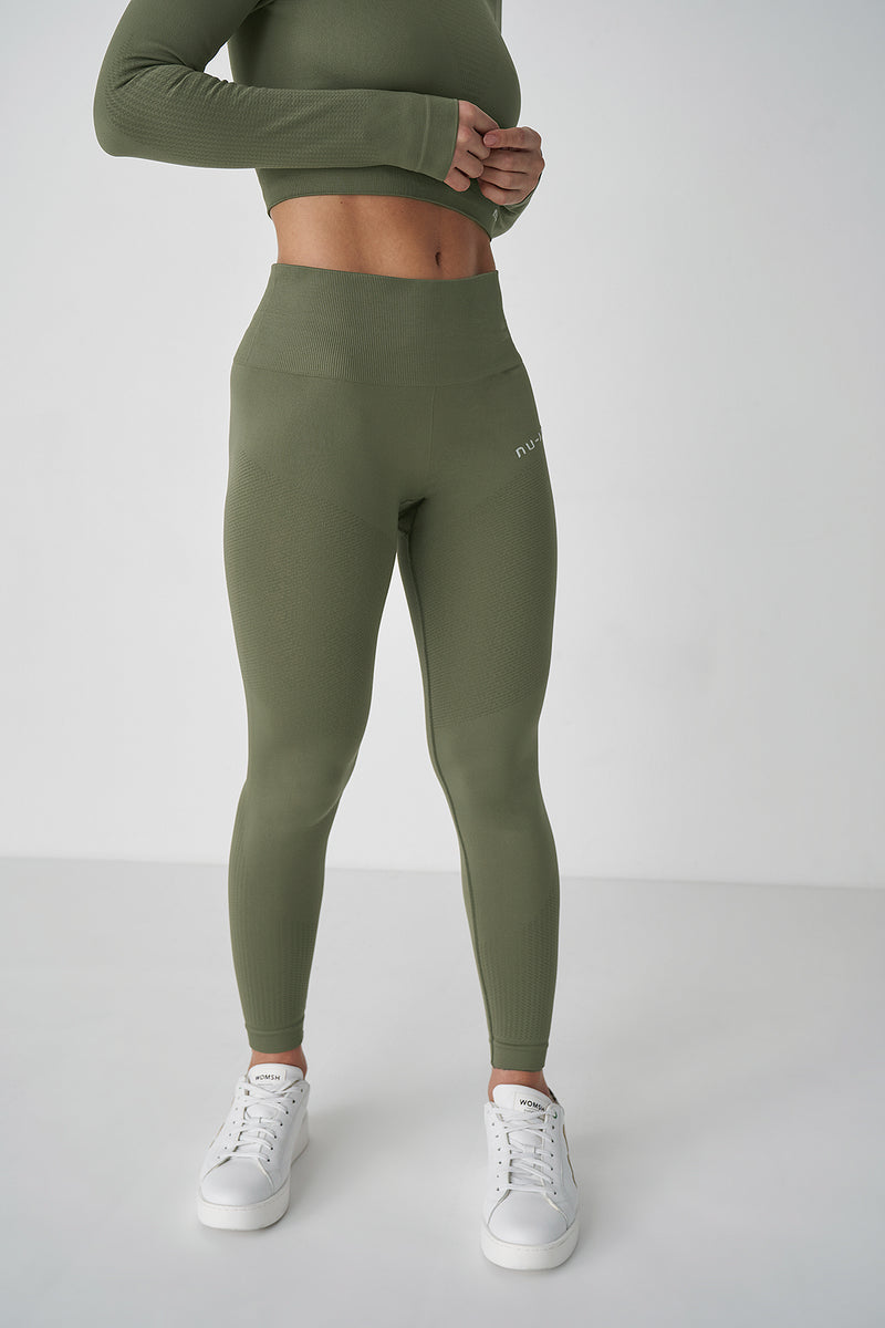 Seamless High Waist Rib Detail Leggings
