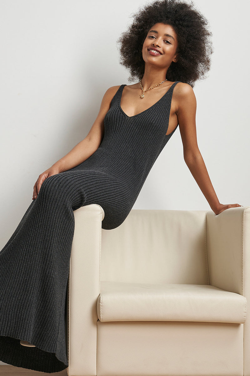 Seamless Knitted Slip Maxi Dress