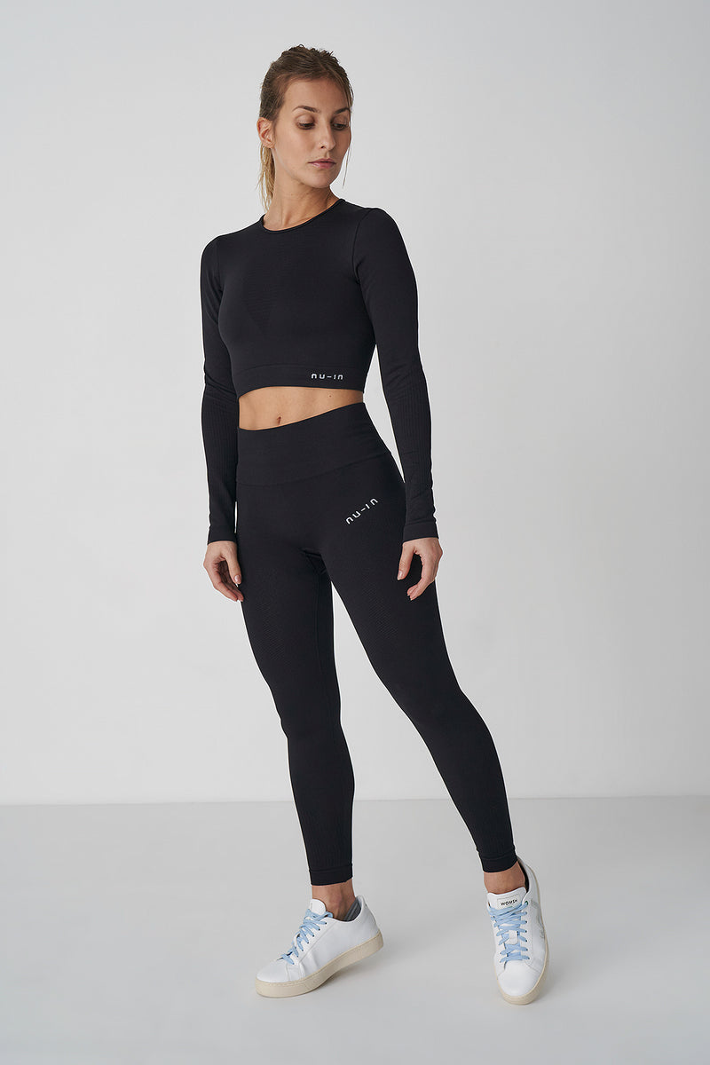 Seamless Long Sleeve Cropped Top