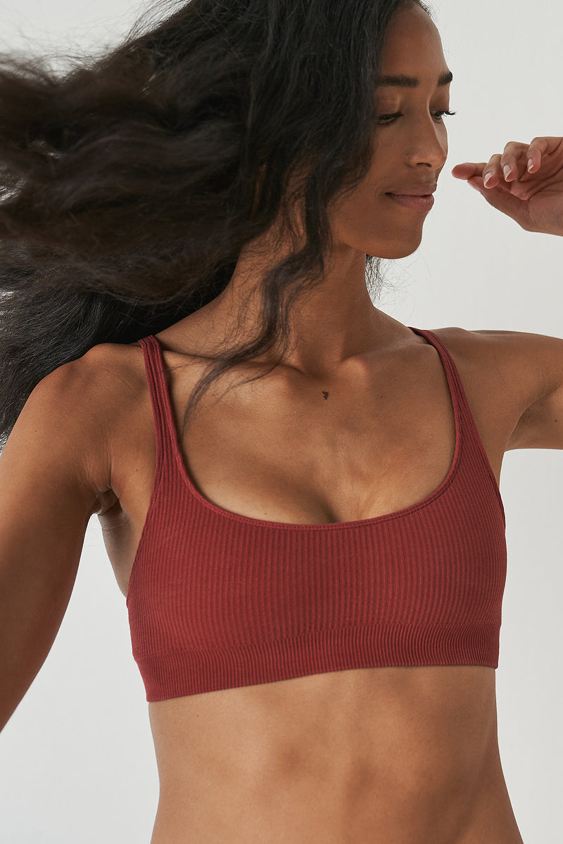Seamless Ribbed Soft Bra