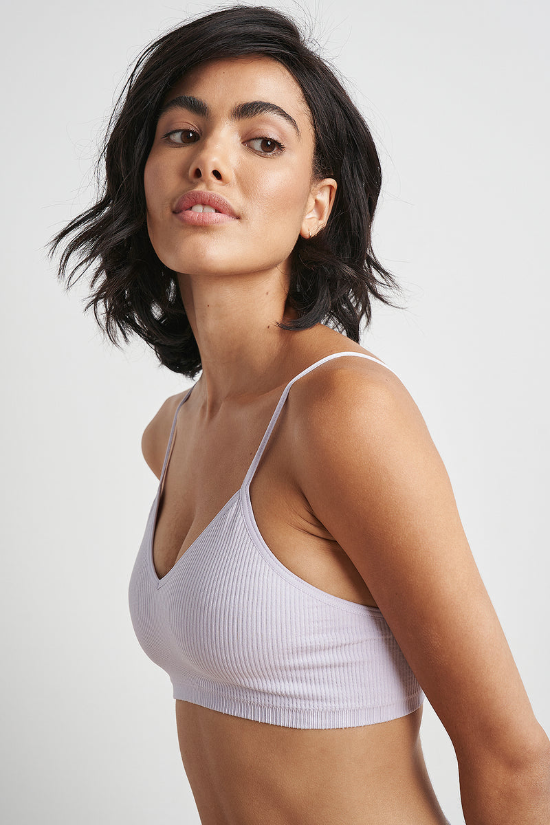 Sweetheart Seamless Ribbed Bra