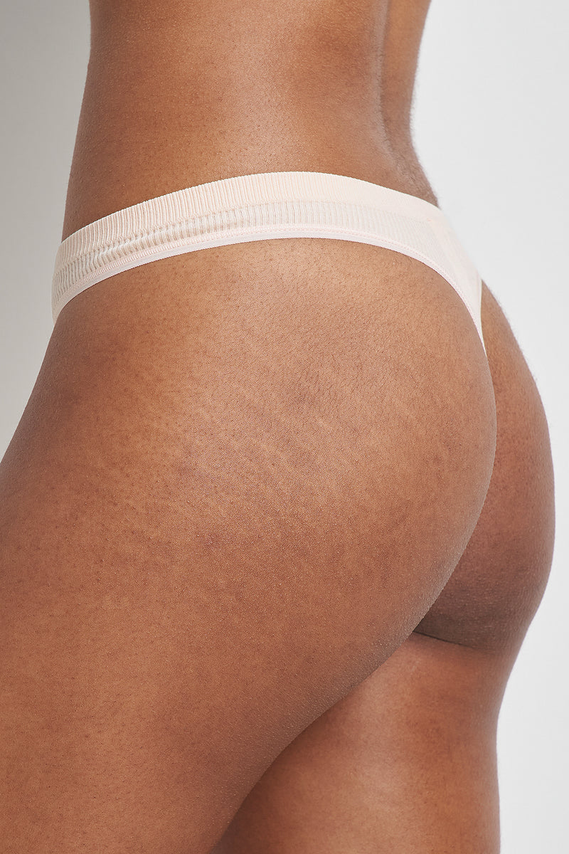 3 Pack Seamless Ribbed Thong