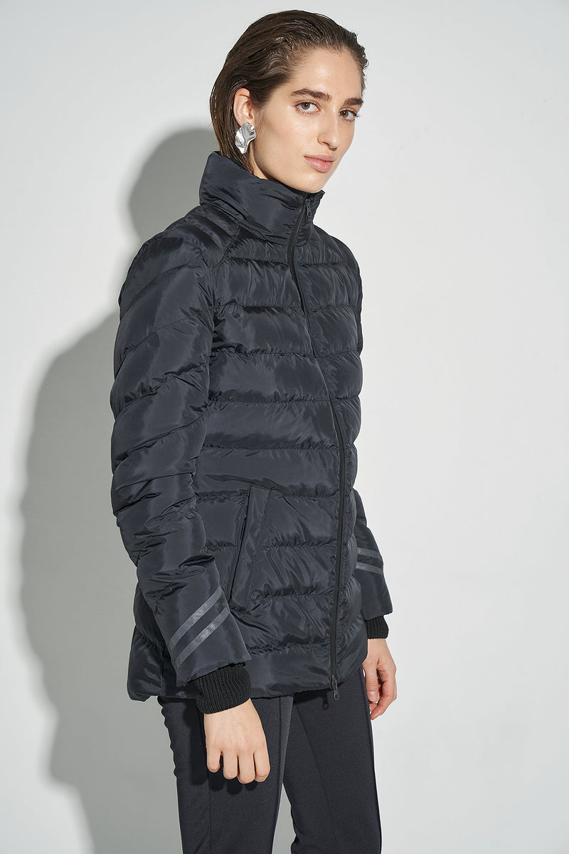 100% Recycled Slim Fit Hooded Puffer Jacket