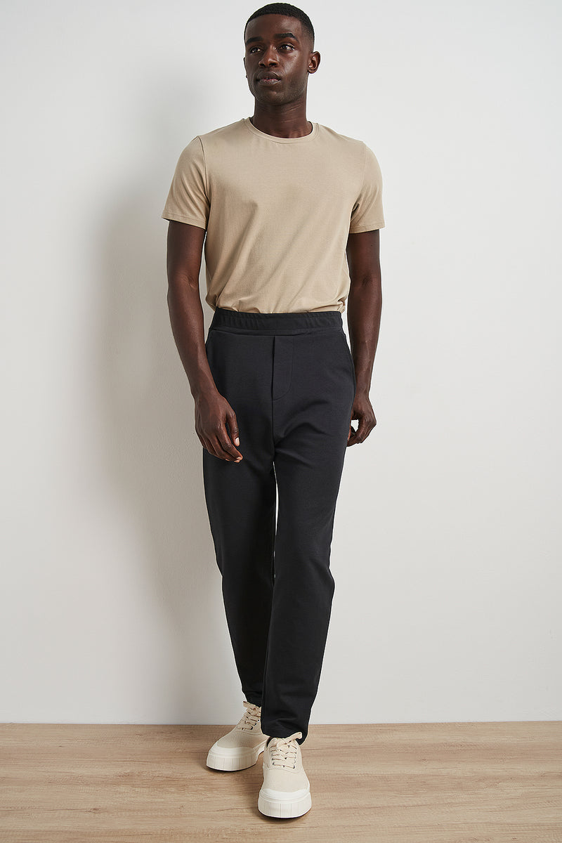Tapered Leg Cropped Sweatpants