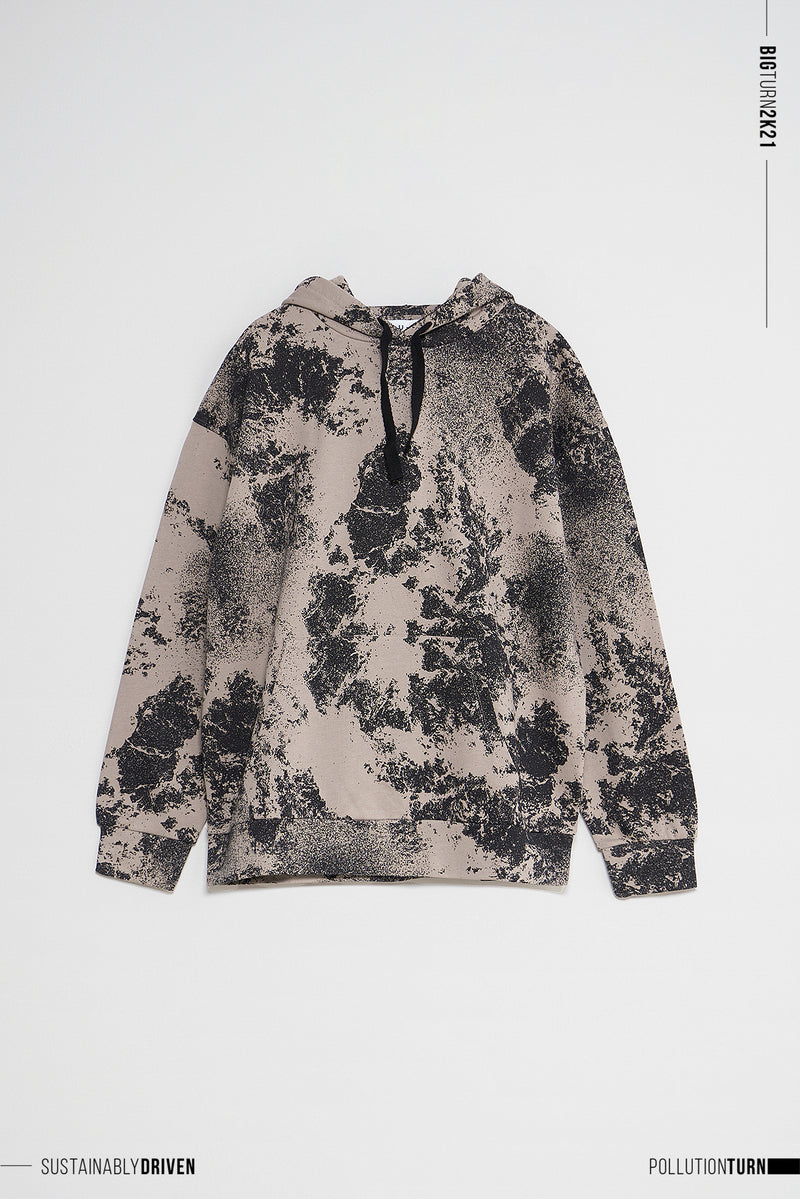 Limited Edition Pollution Print Oversized Hoodie