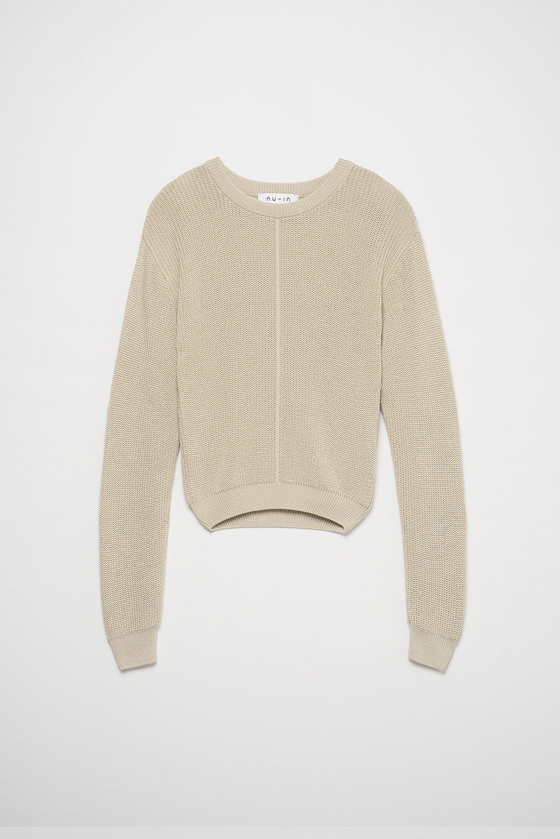 Crew Neck Seam Detail Jumper