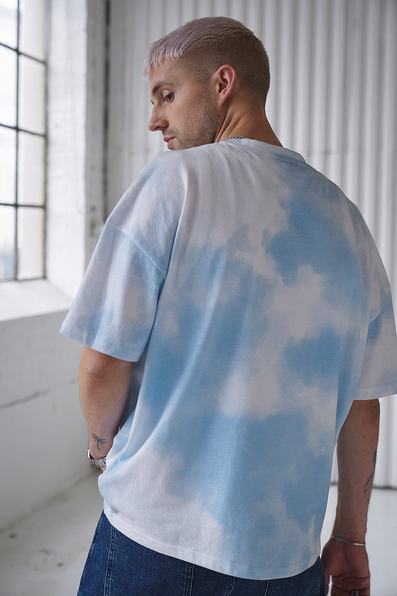 100% Recycled Cloud Oversized Unisex T-shirt