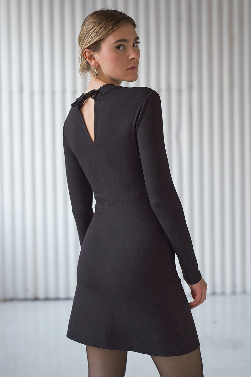 Cut Out Long Sleeve Mini Dress