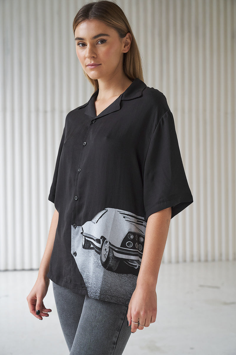 Vintage Short Sleeve Oversized Unisex Shirt