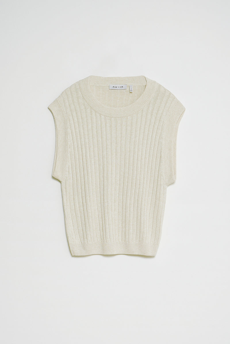 Knitted Wide Rib Vest