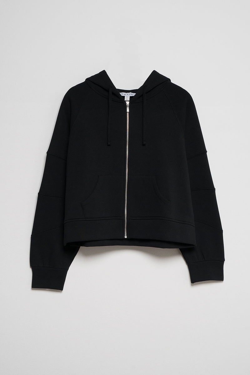 100% Recycled Zip Up Cropped Hoodie