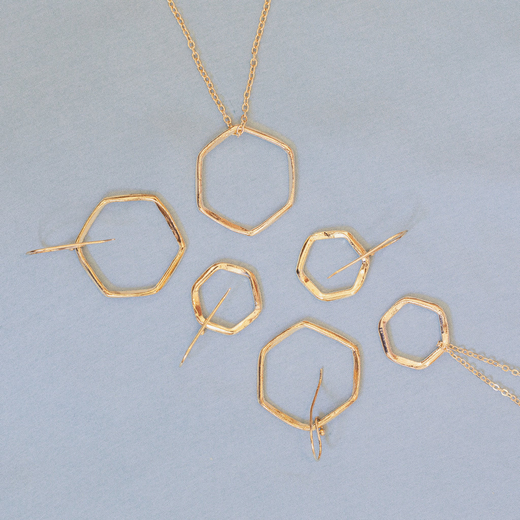 Gold Hex Collection - Lulu B Jewellery
