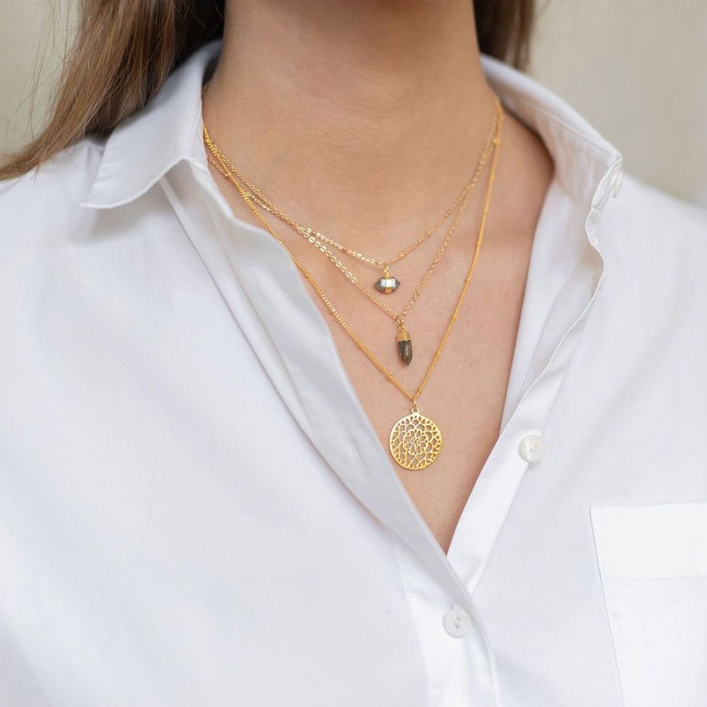 Gold Rosse Necklace - Lulu B Jewellery