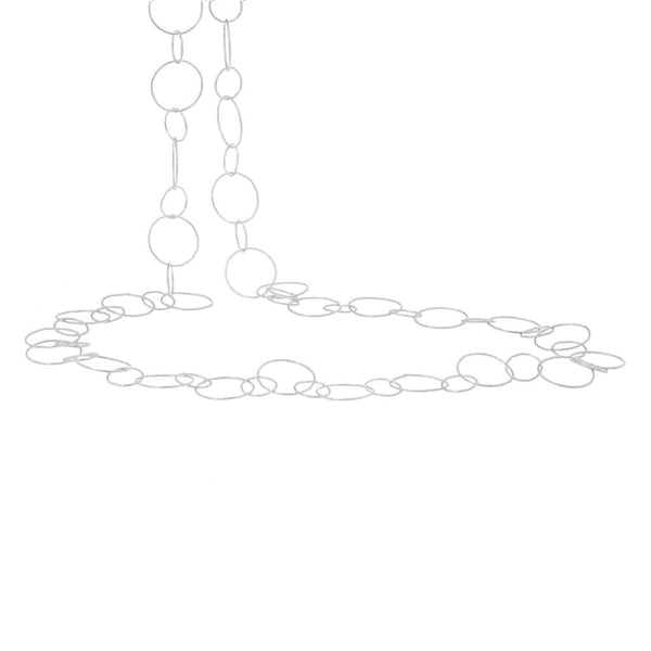 Silver Rosie Chain Necklace - Lulu B Jewellery