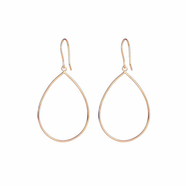Rose Gold Pear Drop Earrings - Lulu B Jewellery