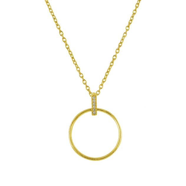 Gold Diamond Barre Necklace - Lulu B Jewellery