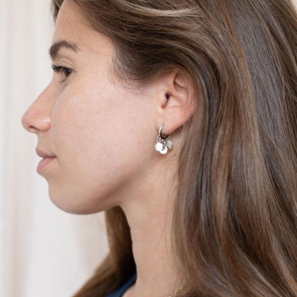 Silver Wimbledon Hoop Earrings - Lulu B Jewellery