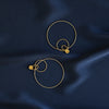 Gold Lola Hoop Earrings - Lulu B Jewellery