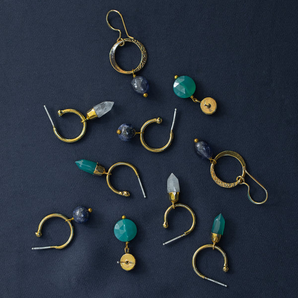 Gold Inca Hoop Earrings - Lulu B Jewellery