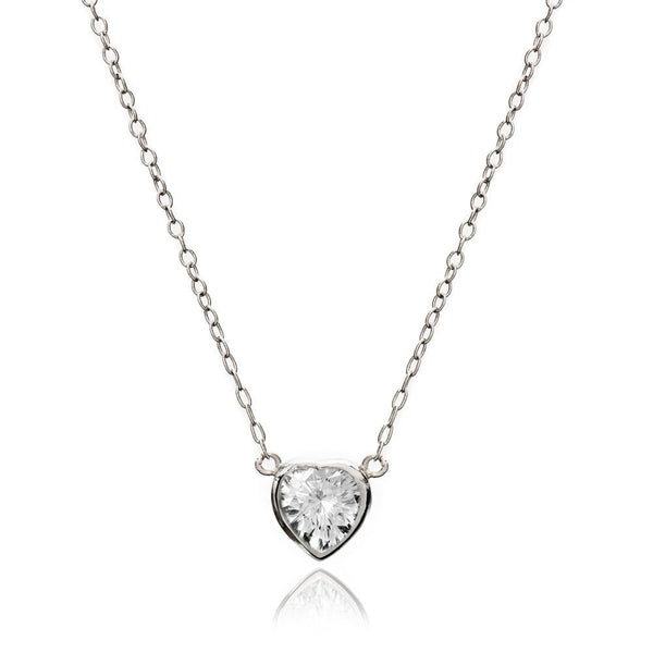 Silver Heart Necklace - Lulu B Jewellery