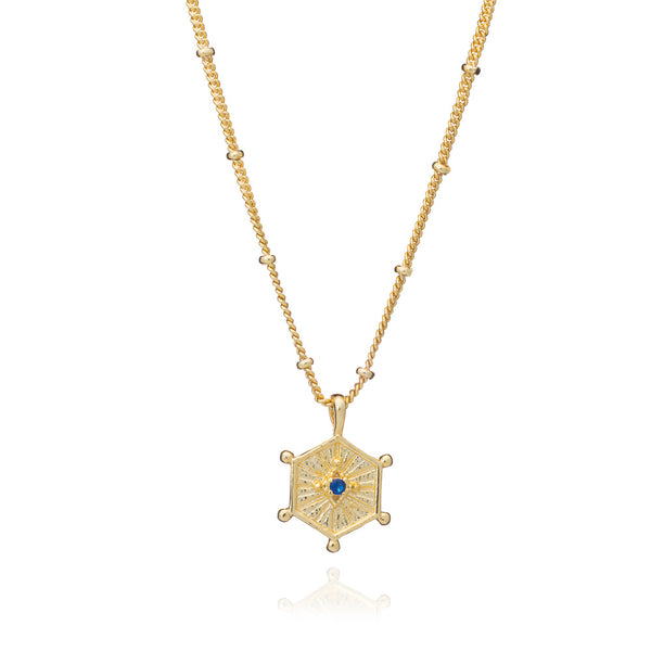Gold Aurora Necklace with Iolite - Lulu B Jewellery
