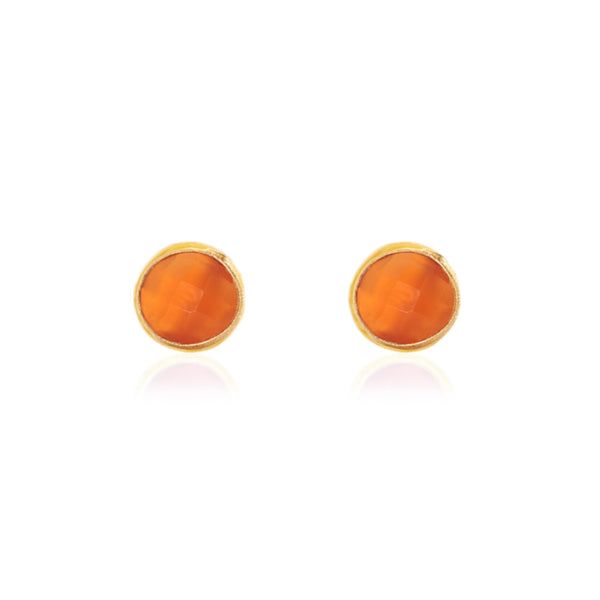 Anna Studs with Carnelian - Lulu B Jewellery