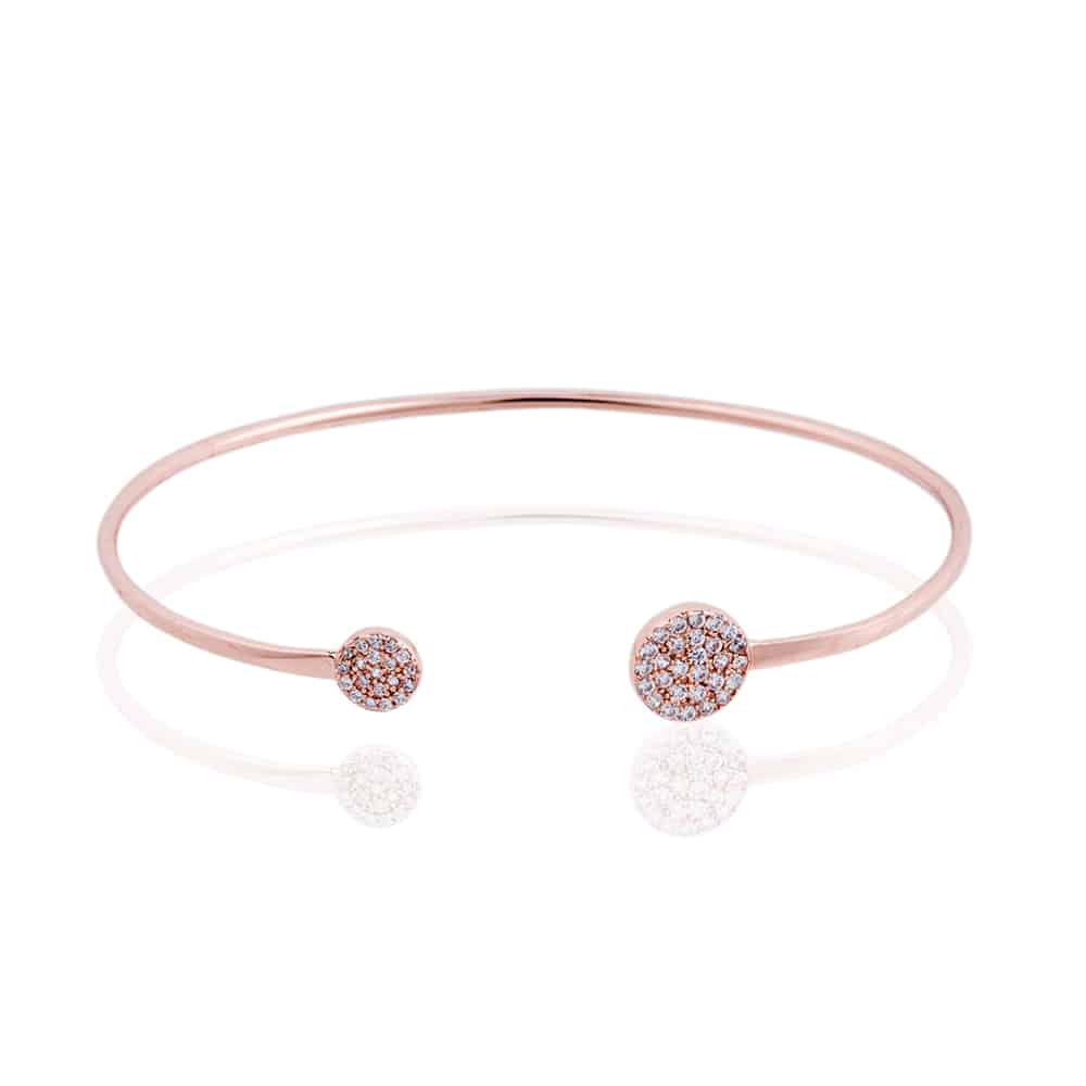 Rose Gold Knightsbridge Bangle - Lulu B Jewellery