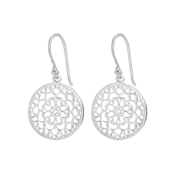 Silver Rosse Drop Earrings - Lulu B Jewellery