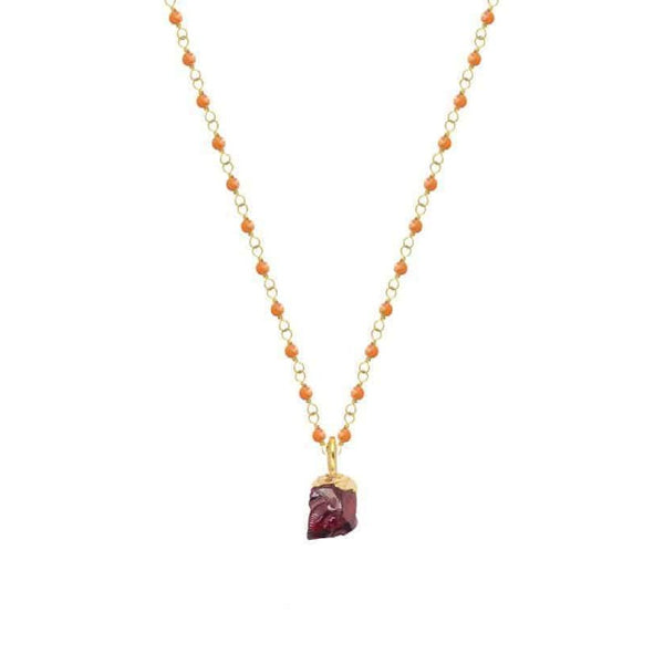 Cora Necklace with Rocca Charm - Lulu B Jewellery