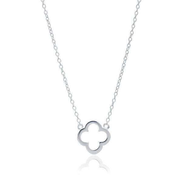 Silver Clover Necklace - Lulu B Jewellery