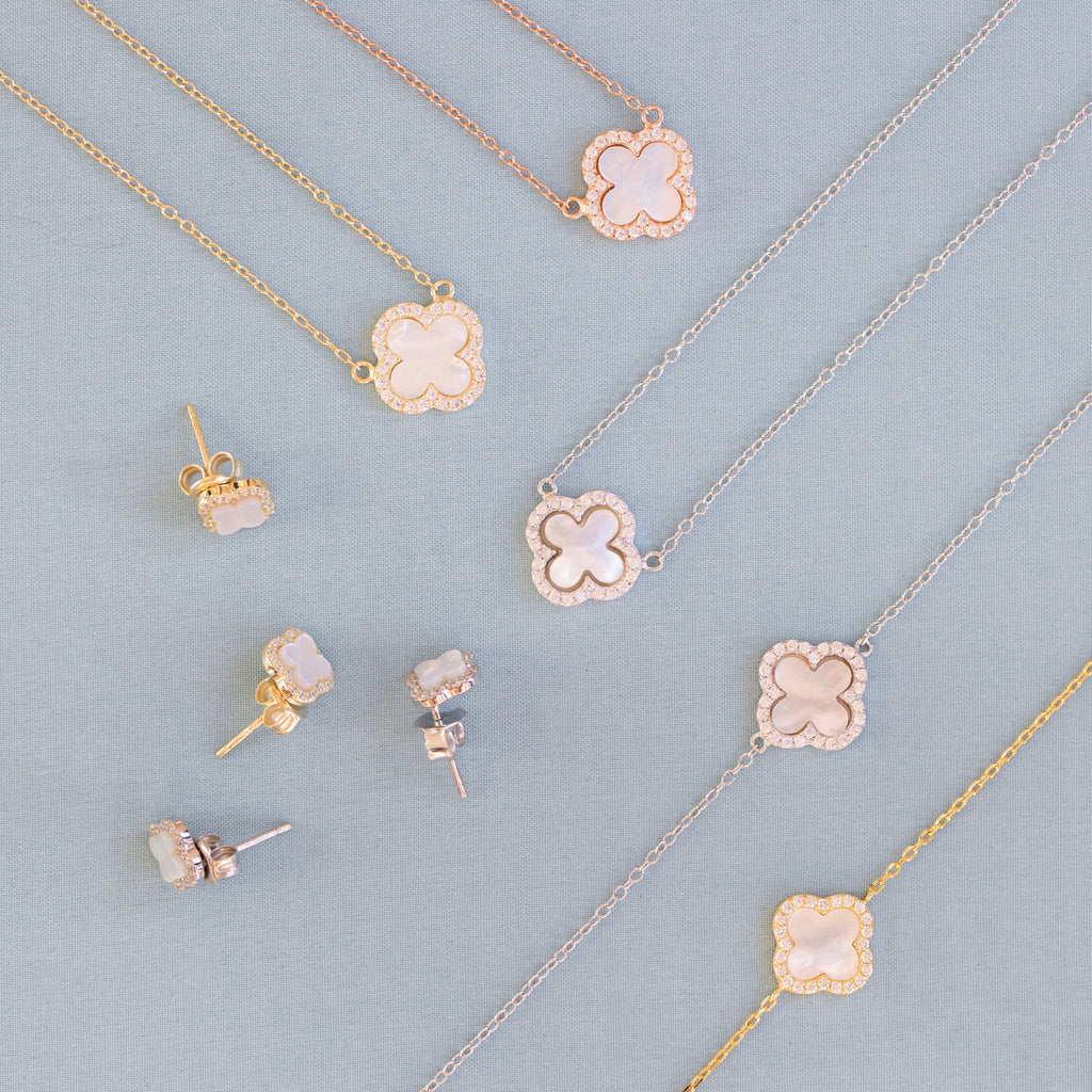 Clover Studs with Mother of Pearl - Lulu B Jewellery