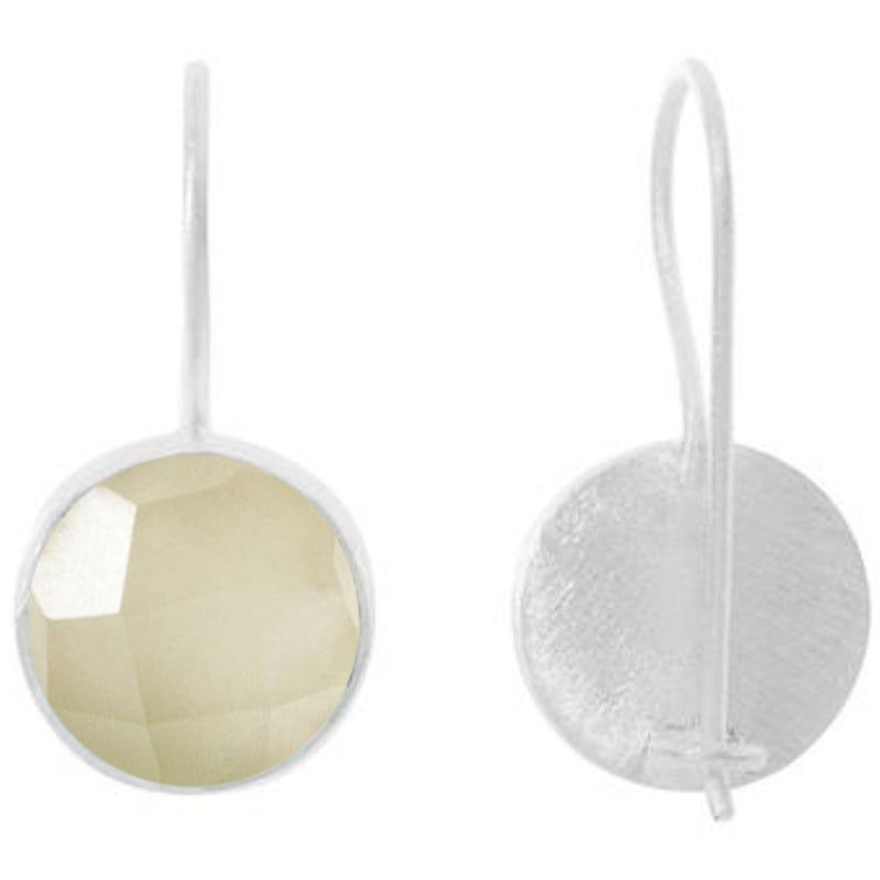 Silver Temperley Drop Earrings with Prehnite - Lulu B Jewellery