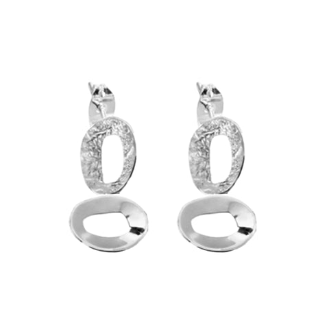 Double O Stud Drops - Lulu B Jewellery