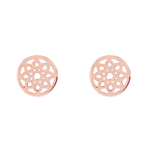Rose Gold Prosperity Stud Earrings - Lulu B Jewellery