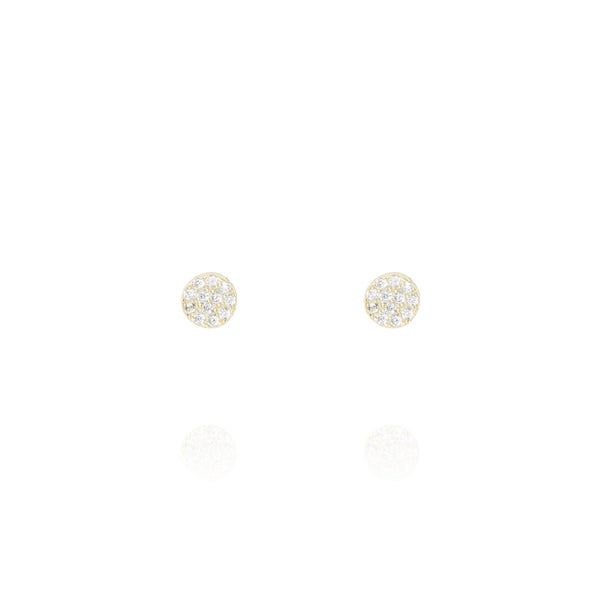Gold Mini Knightsbridge Stud Earrings - Lulu B Jewellery