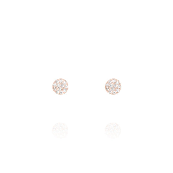 Rose Gold Mini Stud Earrings - Lulu B Jewellery