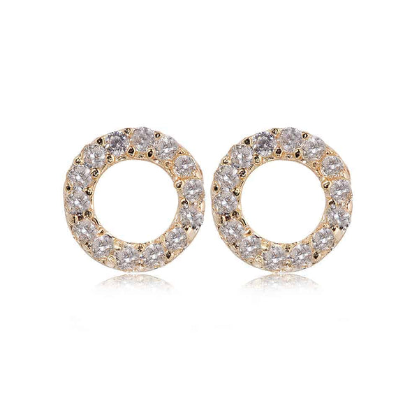 Gold Kingsbury Stud Earrings - Lulu B Jewellery