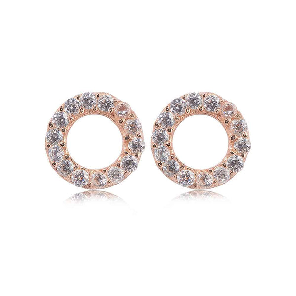 Rose Gold Kingsbury Stud Earrings - Lulu B Jewellery