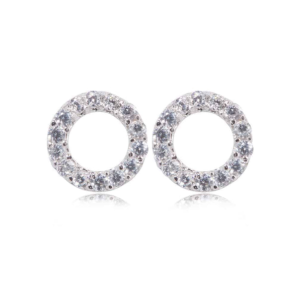 Silver Kingsbury Stud Earrings - Lulu B Jewellery