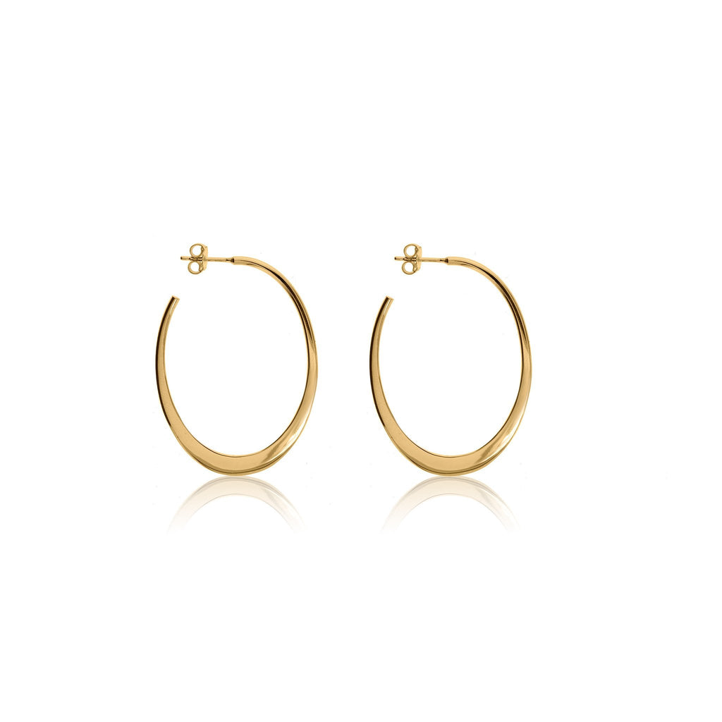 Gold Wetherby Hoop Earrings - Lulu B Jewellery
