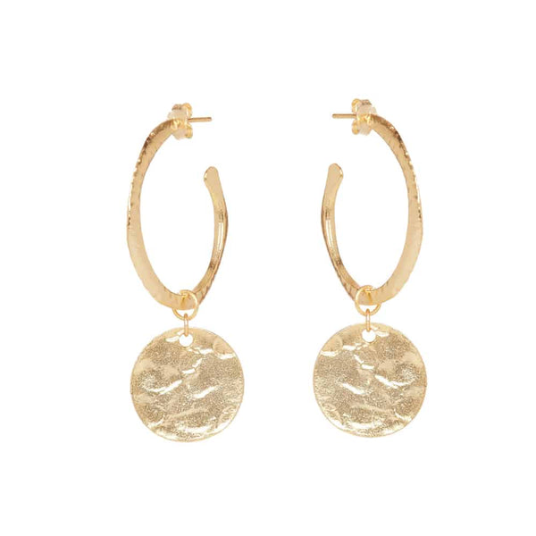 Gold Harper Hoop Earrings - Lulu B Jewellery