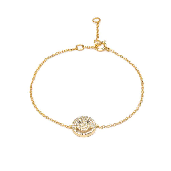 Gold Smile Bracelet - Lulu B Jewellery