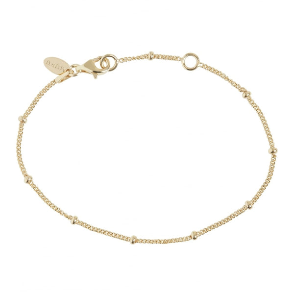 Gold Beaded Chain Bracelet - Lulu B Jewellery.jpg