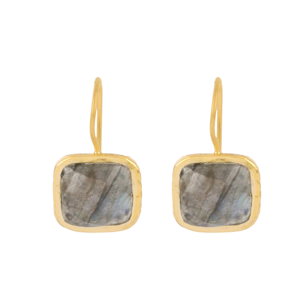 Gold Bloomsbury Drops with Labradorite - Lulu B Jewellery