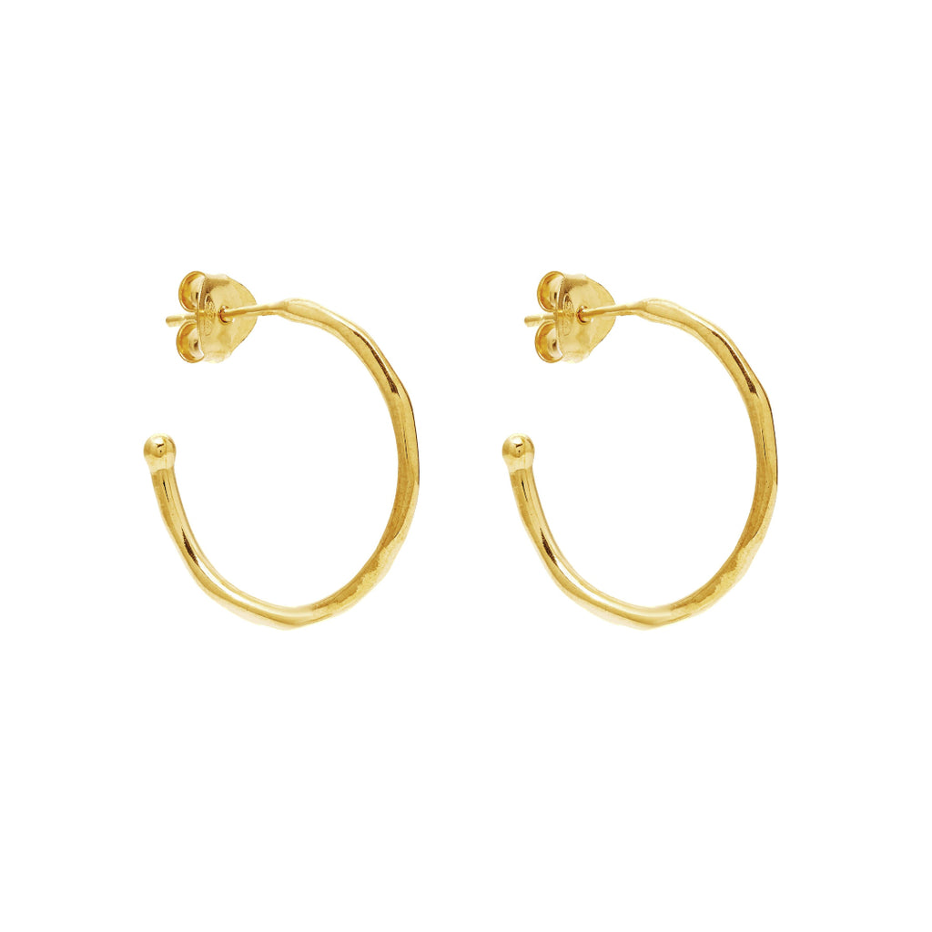Gold Honor Hoop Earrings - Lulu B Jewellery