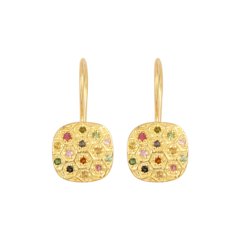 Gold Indiana Drop Earrings - Lulu B Jewellery