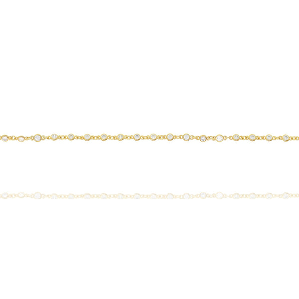 Gold Justine Bracelet with Cubic Zirconia - Lulu B Jewellery