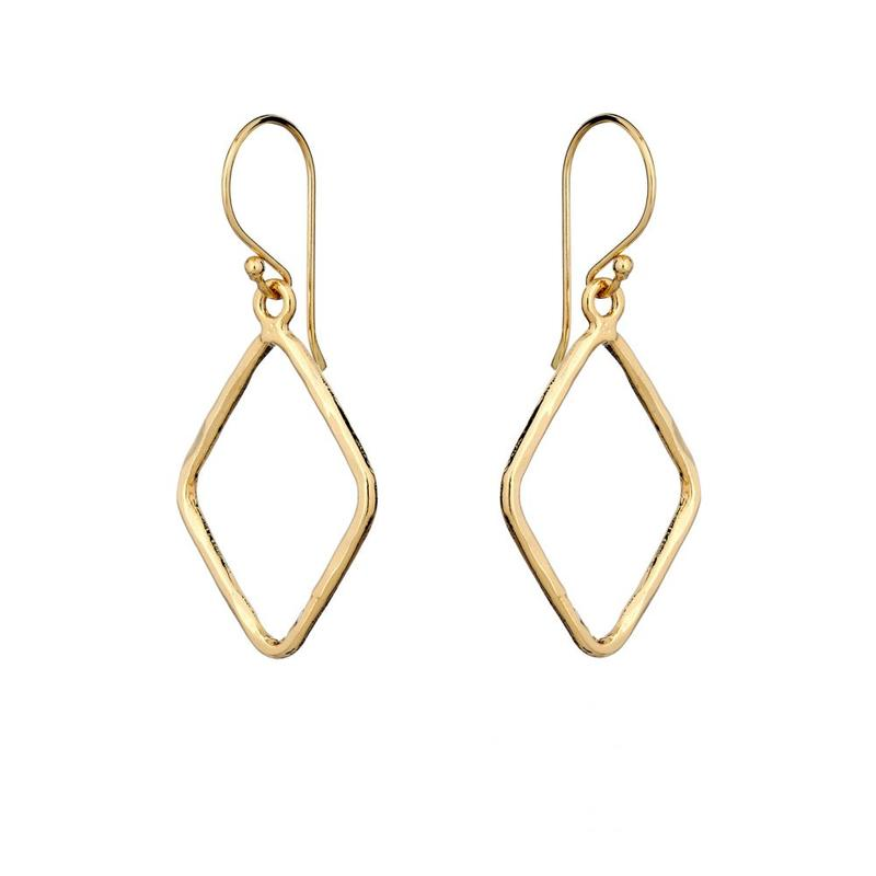 Gold Lowella Drop Earrings - Lulu B Jewellery